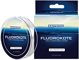 KastKing FluoroKote Fishing Line - 100% Pure Fluorocarbon Coated - 300Yds/274M Premium Spool - Upgrade from Mono Perfect S...