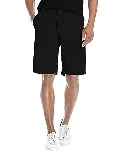 Agile Mens Super Comfy Stretch Flex Waist Cargo Shorts Flat Front Chino