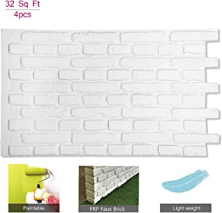 3D Wall Panels FRP Faux Stone Brick Wallpanel for Tv Walls, Sofa Background, Wall Art Decorative Extrior and Interior Wall Tiles (1 Box, 45