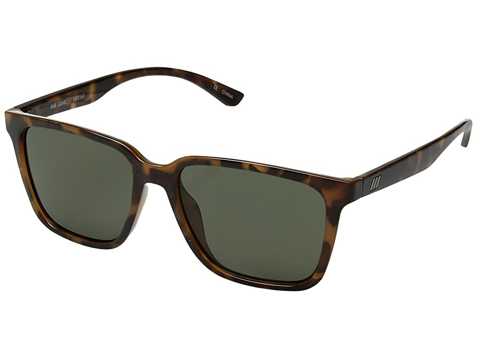 63957dfe75b Le Specs Fair Game (Milky Tort Green Mono) Fashion Sunglasses