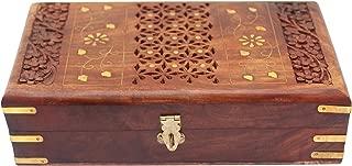 ITOS365 Handmade Wooden Keepsake Storage Case Jewelry Box Jewel Organiz - Gifts for Women