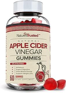 Premium Apple Cider Vinegar Gummies - Organic, Vegan, Gluten Free, Non-GMO, with