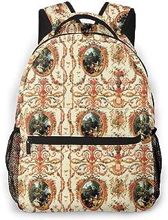 Marie Antoinette Rococo Lovers Seasons, School Backpack Large Capacity Lightweight College Laptop Bags Bookbag Hiking Daypack For Teens Girls Boys