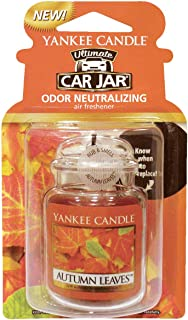 Yankee candles co Autumn Leaves car jar Ultimate Air Freshener, Festive Scent
