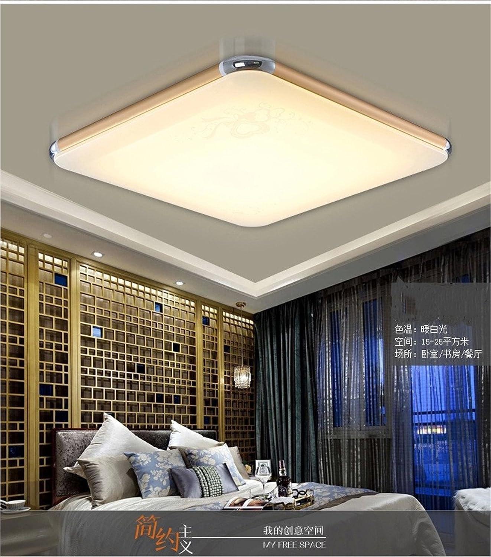 DengWu Plafonniers Design créatif plafonniers LED lumières rectangulaires de salon lampadaires quadrants, 450  450  80mm