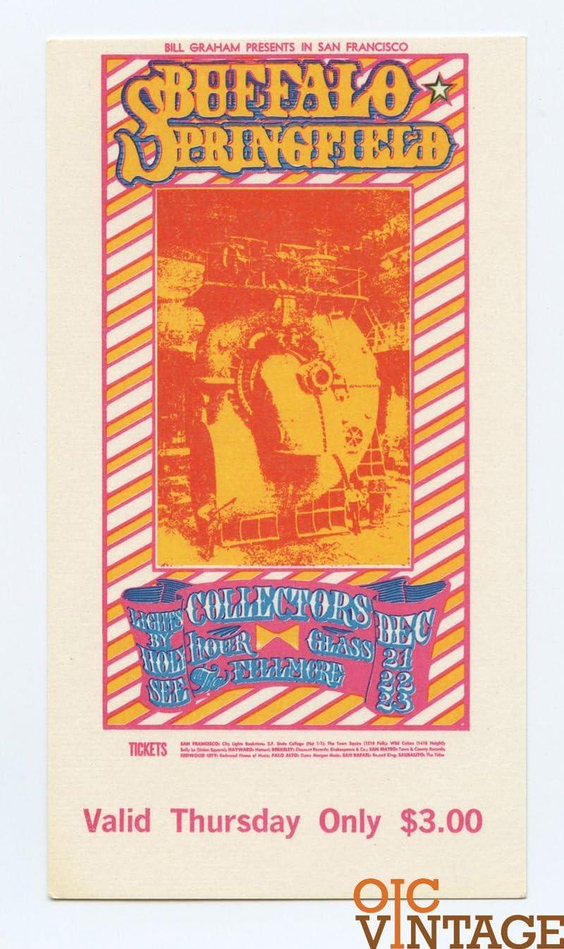 New sales BG 98 Buffalo online shopping Springfield 1967 Dec Ticke 21 Bill Fillmore Graham