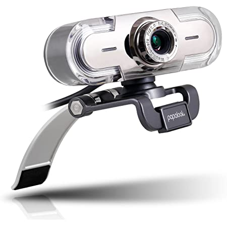 Webcam 1080P Full HD PC Skype Camera, PAPALOOK PA452 Web Cam with Microphone, Video Calling and Recording for Computer Laptop Desktop, Plug and Play USB Camera for YouTube, Compatible with Windows