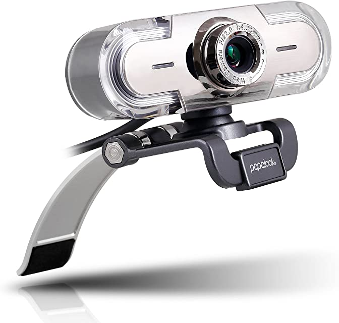 Webcam 1080P Papalook PA452 de Alta Definición con Micrófono con Gran Apertura Compatible con Skype MSN Facebook Google Hangouts Webcam de USB Plug and Play Web Cam para Ordenador PC etc