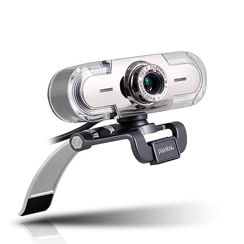Webcam 1080P, Papalook PA452 de Alta Definición con Micrófono con Gran Apertura Compatible con Skype