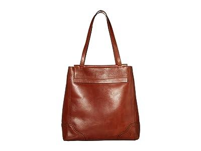 Frye Charlie Simple Tote (Cognac) Handbags