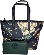 Tory Burch Kerrington Small Zip Tote bundled with Tory Burch Lily Zip Continental Wallet