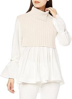 Snidel 衬衫束腰叠层针织背心 SWNT214122 女士
