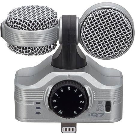 ZOOM iQ7 MS - Micrófono estéreo para Apple iPhone/iPad, plateado