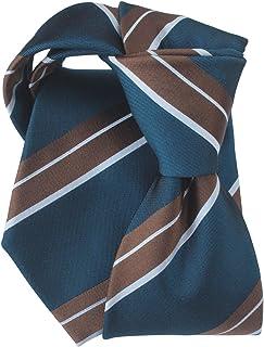 [ステファノ ビジ] ネクタイ ビジネス ブランド イタリア製 シルク メンズ おしゃれ ストライプ ダークブルー