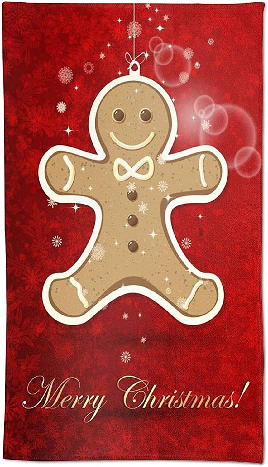Hand Towels Snow Snowflakes Cute New products world's highest quality popular Cheap mail order shopping Face Man Towel Gingerbread Deco