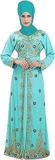 Daily Wear Dubai Kaftan Maxi Dress with Simple Elegant Embroidery Design 6583