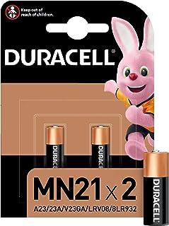 Duracell Pilas especiales alcalinas MN21 de 12V, paquete de 2 unidades A23/23A/V23GA/LRV08/8LR932, diseñadas para su uso ...