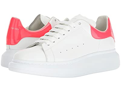 Alexander McQueen Simple Double Sole Sneaker (White/Coral) Men