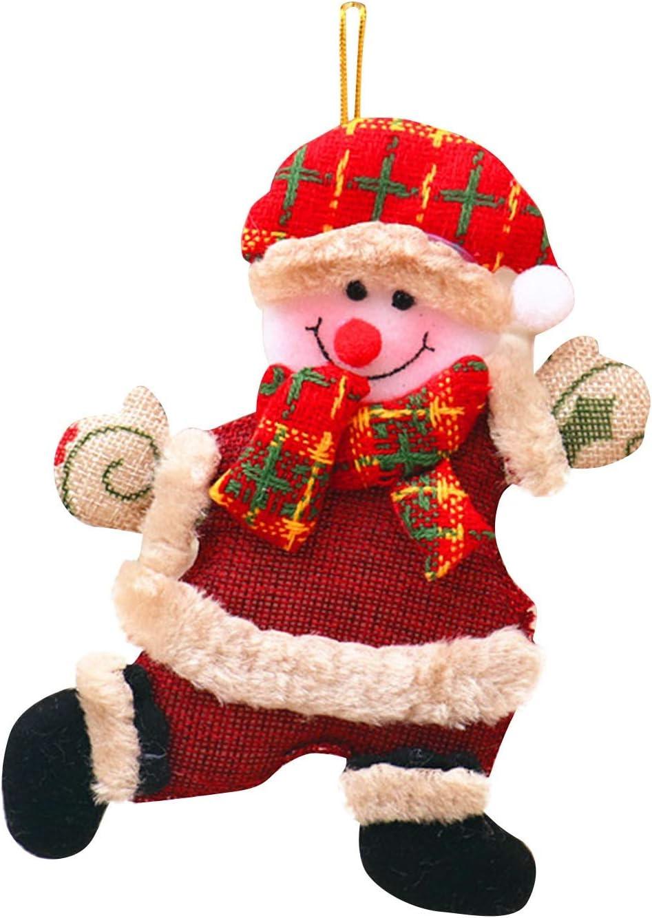 Multi1 KPV Pendant Christmas Decorations Fawn Pendant Snowman Christmas Tree Ornaments