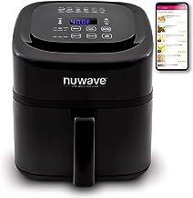 NuWave Brio 6-Quart Air Fryer with App Recipes (Black) Includes Basket Divider, One-Touch Digital Controls, 6 Easy Preset...