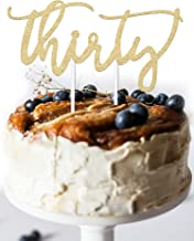 30th Birthday Cake Topper Decoration - THIRTY - 7