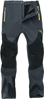 Men's Outdoor Windproof Fleece Lined Hiking Pants Waterproof Snow Ski Pants