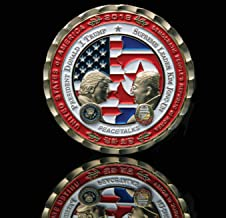 Official [THE WHITE HOUSE GIFT SHOP]- Special Coin, Korea Singapore Summit Limited & Edge Numbered Historic Moments Collection, President Donald J. Trump & North Korea Leader Kim Jong-UN Moon JAE-in