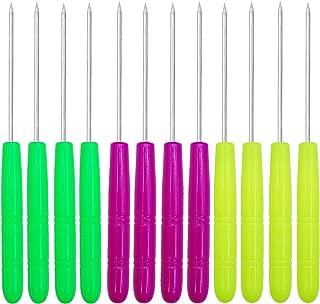 Antallcky 12 Pack Sugar Stir Needle Scriber Needle Modelling Tool, DIY Baking Pin Whisk Stainless Steel Needle Biscuit Cookie Icing Pin Icing Sugarcraft Cake Decorating