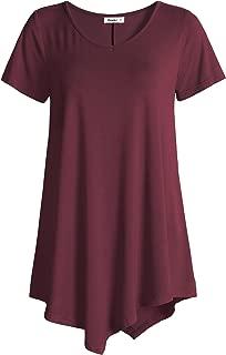 Women's V-Neck Swing Shirt Casual Tunic Top for Leggings