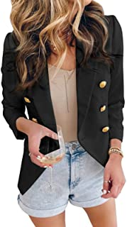 Womens Casual Pocketed Office Blazers Draped Open Front...