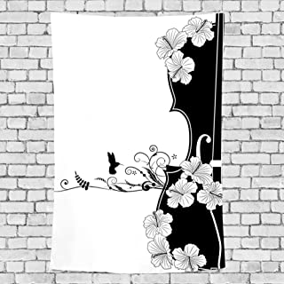 scrolled japanese wall hanging