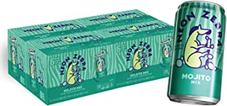 Neon Zebra, Non-Alcoholic Cocktail Mixer, Mojito, Made With Real Juice, No Artificial Sweeteners, 7.5 fl oz Cans (24 pack)