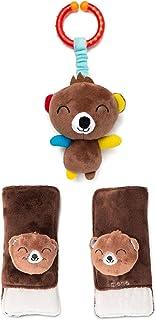 Diono Baby Harness Soft Wrap & Linkie Toy, Bear
