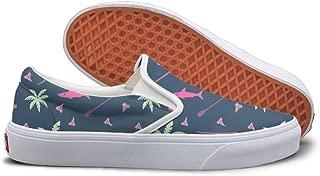SEERTED Tropical Surfing Seamless Pattern Sneaker Women Wide