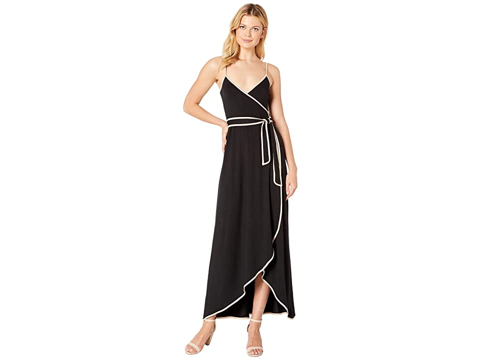 Rachel Pally Britta Wrap Dress (Black/Bamboo) Women