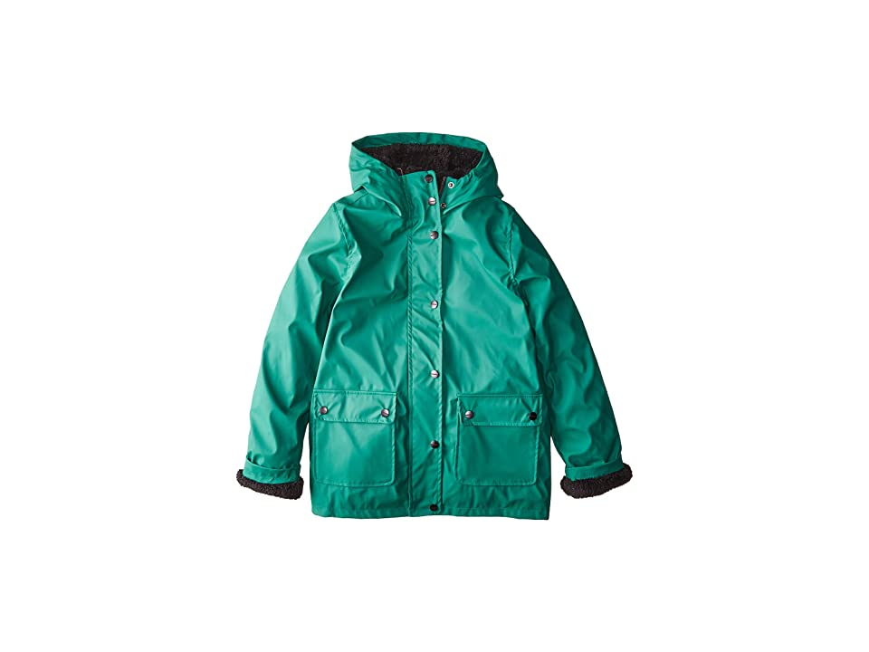 Urban Republic Kids Khloe Raincoat w/ Faux Fur Lining (Little Kids/Big Kids) (Pine) Girl
