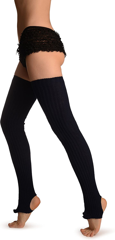 Oxford Blue Stirrup Dance/Ballet Leg Warmers - Blue Leg Warmers