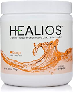 HEALIOS Orange Flavor Oral Health and Dietary Supplement, Powder Form, Naturally Sourced L-Glutamine Trehalose L-Arginine,...