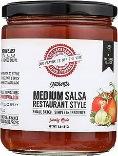 The Backyard Food Company, Authentic Restaurant Style Medium Salsa, 16 oz Jar