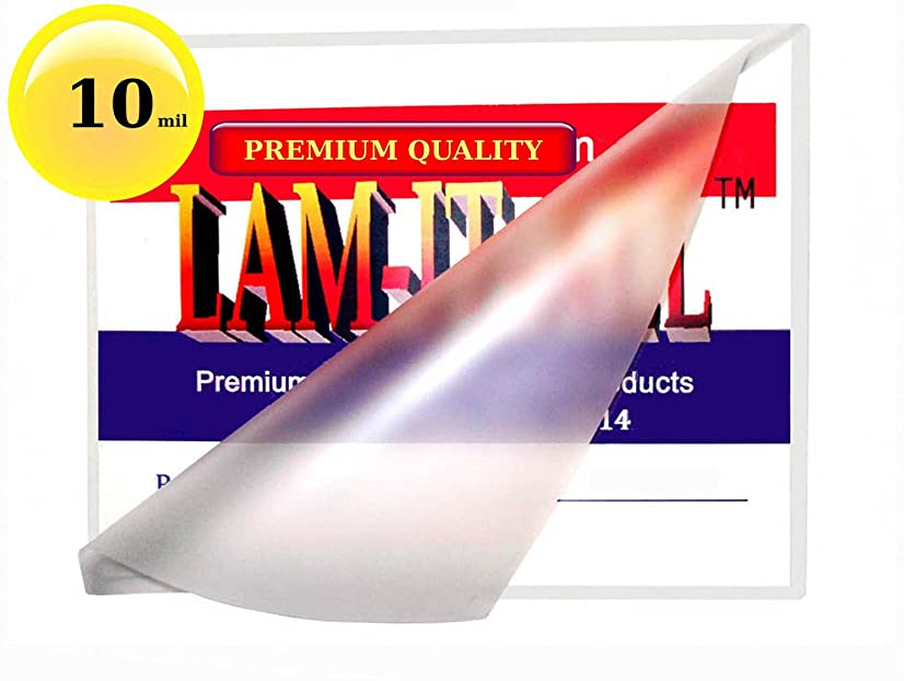 10 Mil 6 x 9 Hot Laminating Pouches [Pack of 50] by LAM-IT-ALL