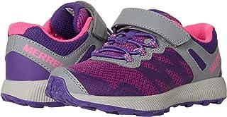 Merrell unisex child Nova 2 Hiking Shoe, Grey/Purple/Berry, 4.5 Wide Big Kid US