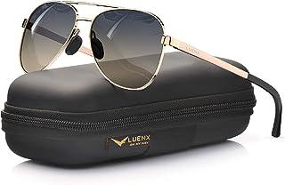 نظارات شمسية افياتور من لوينكس مع حقيبة - حماية من الأشعة فوق البنفسجية 400 - 60 ملم