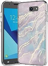 Galaxy J7 V Case,Galaxy J7 Prime Case,Galaxy J7 Perx Case,J7 Sky Pro Case,Spevert Marble Pattern Hybrid Hard Back Soft TPU Raised Edge Slim Protective Case for Samsung Galaxy J7 2017 - Pink Blue