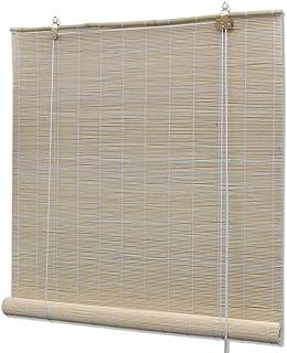 Tidyard Persiana Enrollable de Bambú,Cortina de Madera,