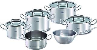 Fissler original-profi collection / Juego de ollas de acero inoxidables, compuesto por 6piezas, con tapas de vidrio, apta para cocinas de inducción, gas, vitrocerámica y eléctricas
