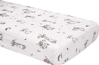 Bebe au Lait Classic Muslin Crib Sheet, Bunny Tails