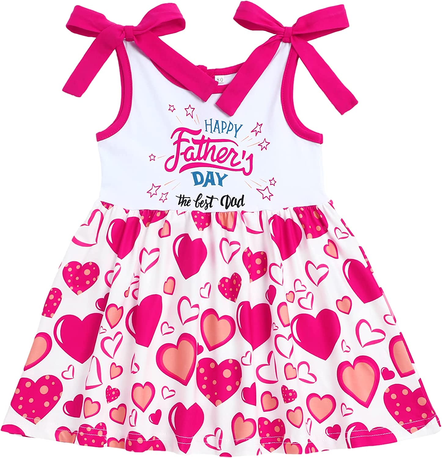 Sinda Happy Father's Day Outfit Clothes Toddler Baby Girls Happy First Fathers Day Outfits Dress