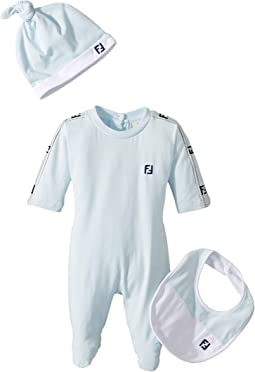 Footie/Hat/Bib w/ Logo Detail (Infant)
