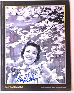 Nanette Fabray Signed Autographed Birthday Program High Button Shoes JSA II23306