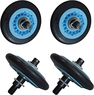 ATMA DC97-16782A Dryer Drum Roller Kit Pack of 4 Fit For Samsung Dryer Replace DC97-07523A C97-07523B DC97-07523A PS422188...